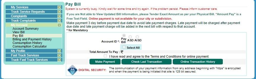 BESCOM bill payment online