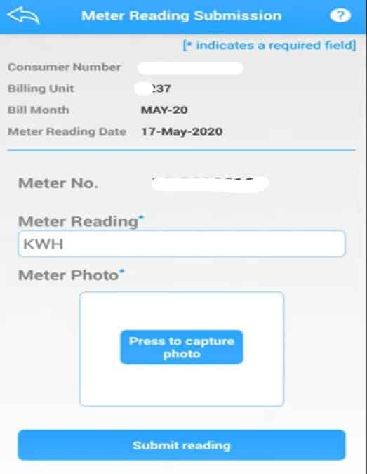 submit MSEDCL meter reading