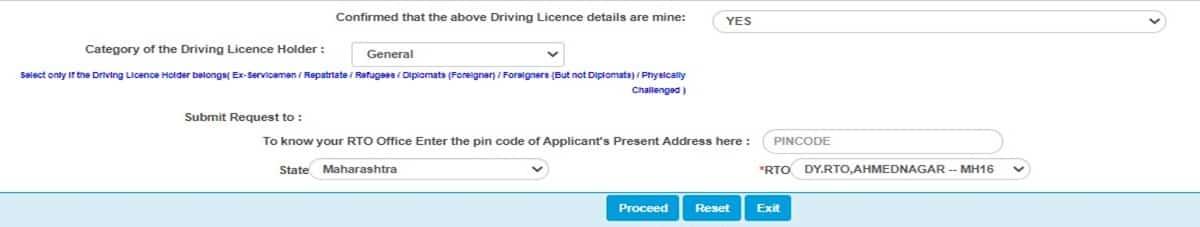 Sarathi Parivahan license renewal
