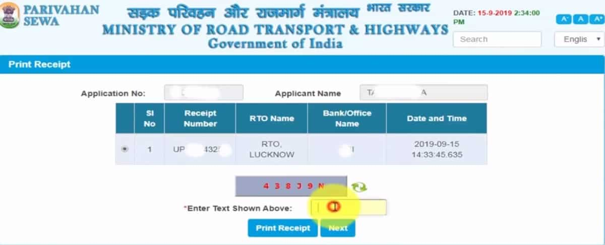 apply for a driving license online