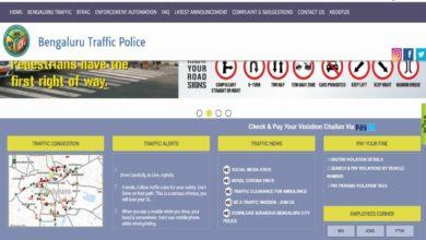 Bangalore traffic fine