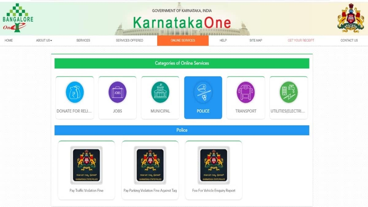 Bangalore Traffic Fine Payment Online