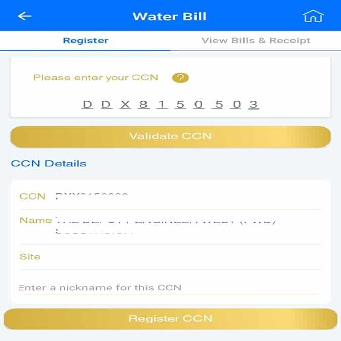 MCGM water bill payment receipt