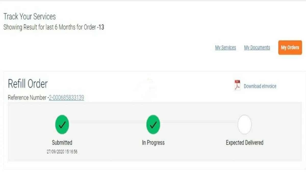 status of Indane gas booking